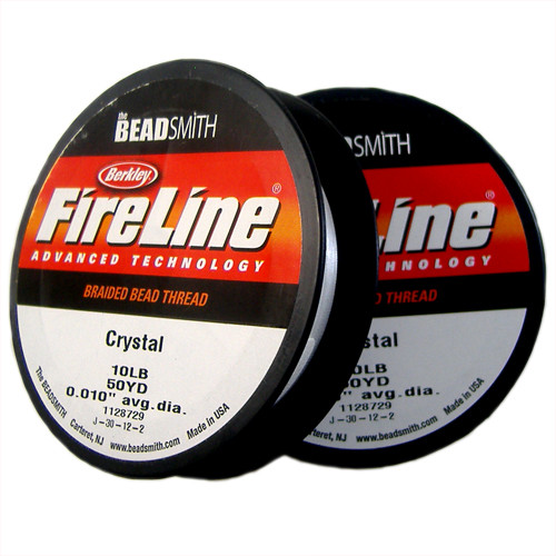 10lb Crystal Clear Fireline Cord - 50 yards