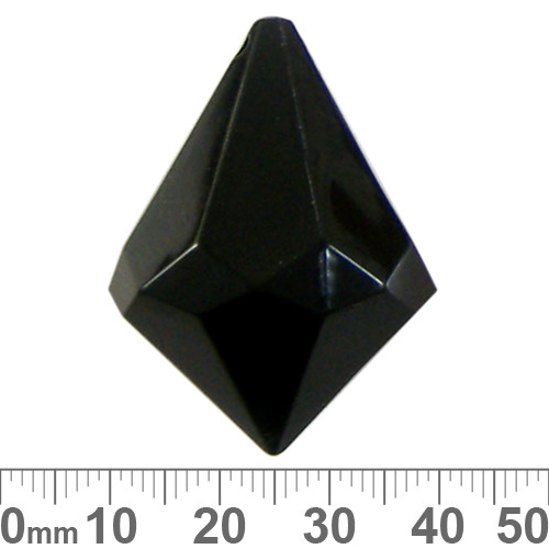 38mm Black Faceted Teardrop Resin Suncatcher