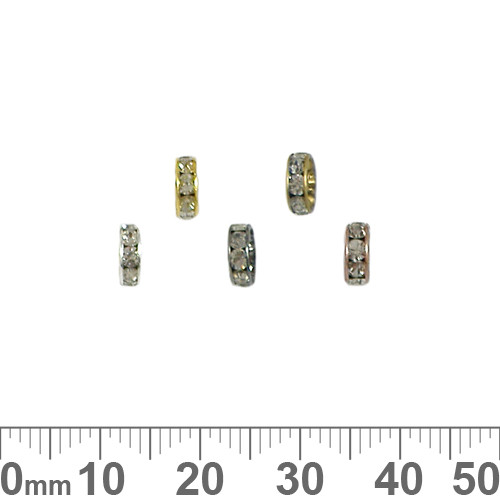 6mm Rondelle Diamante Spacers