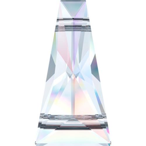 Crystal AB Swarovski® 2 Hole Keystone Beads