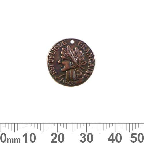 BULK 17mm French Coin Metal Charms
