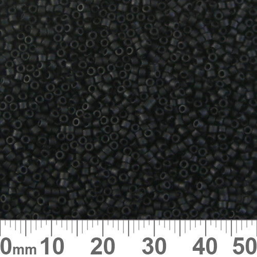 11/0 Matte Black Delica Seed Beads