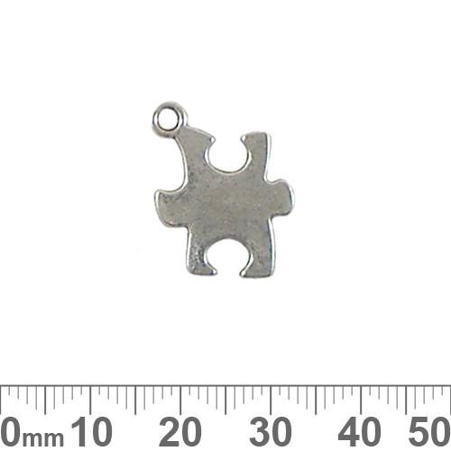 BULK Puzzle Piece Metal Charms