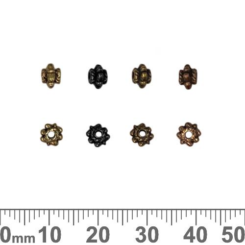 BULK Small Spiky Decorative Metal Beads