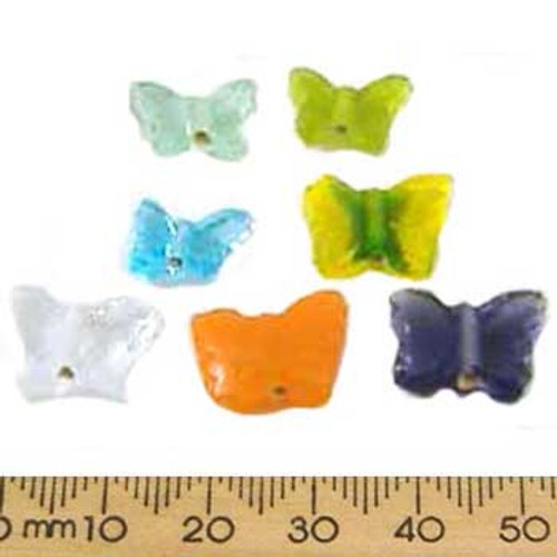 Mixed Colours Butterfly Glass Bead Mix
