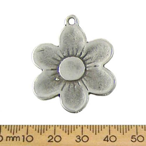Silver Daisy Metal Pendant