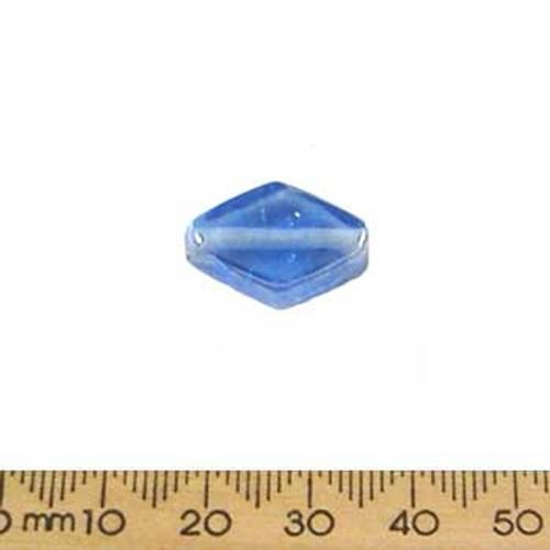 Light Blue Lustre Flat Diamond Glass Beads