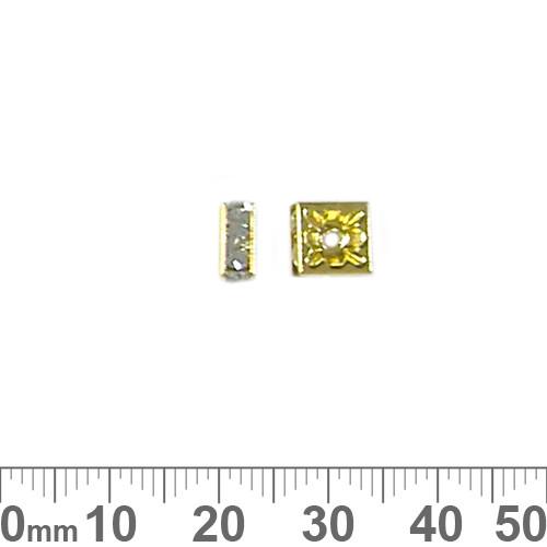 7mm Square Rondelle Diamante Spacers