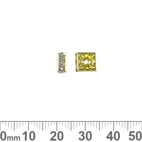 7mm Square Rondelle Diamante Spacers