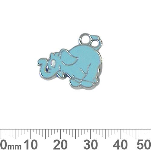 Blue Elephant Enamel Metal Charm