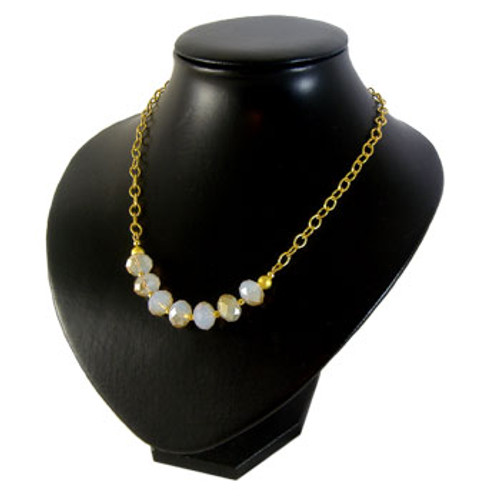 Crystal Matinee Necklace Kit - Milky/Amber