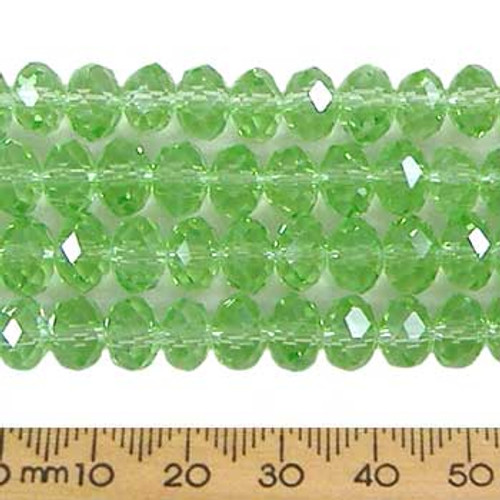 Peppermint Green 8mm Rondelle Glass Crystal Strands