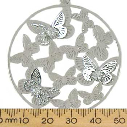 3D Butterfly Base Metal Pendant