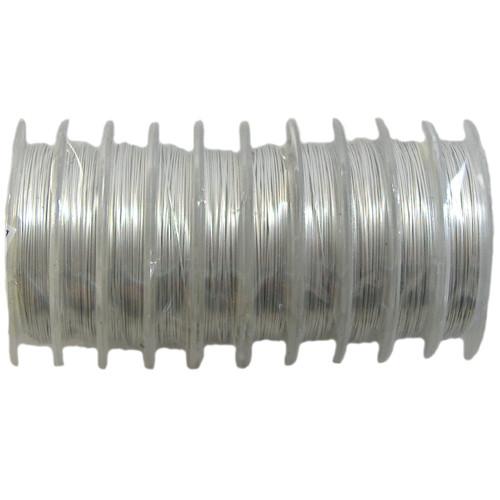 26 gauge BULK Beading Wire - 100m (Silver)