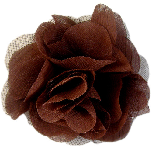 70mm Brown Fabric Flower