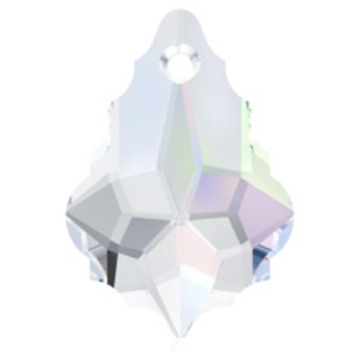 16mm Crystal AB Swarovski® Baroque Pendant