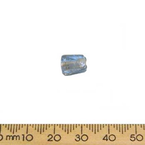 Light Blue Rounded Rectangle Glass Beads