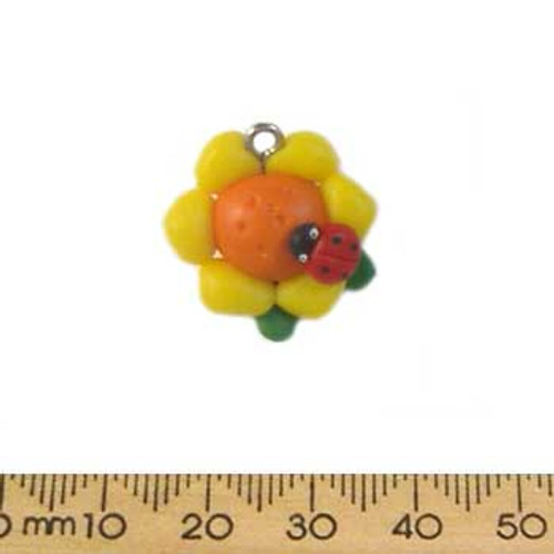 Puffy Sunflower Clay Charms