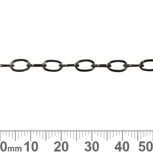 Black 8.5mm Rectangular Link Chain