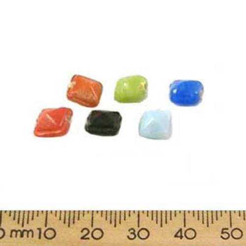 Mixed Colours 3D Pyramid Glass Bead Mix