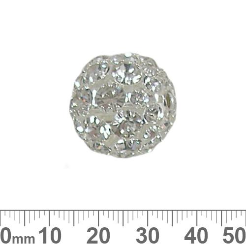 20mm Sparkly Diamante Metal Ball