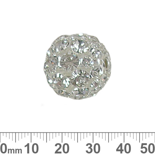 20mm Sparkly Diamante Metal Ball