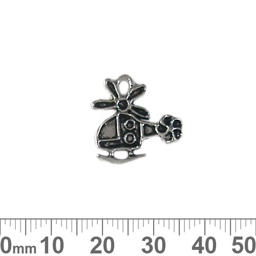 BULK Helicopter Metal Charms