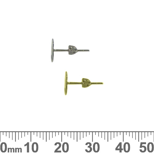 BULK 10mm Flat Back Stud Earring Posts