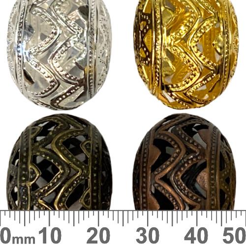 Large Aluminium Flattened Ball Metal Beads