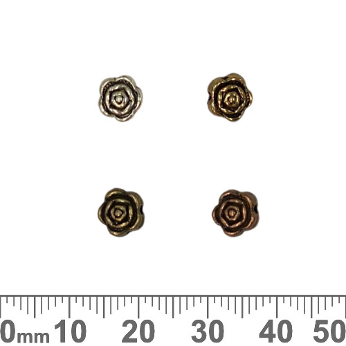 Rose Metal Beads
