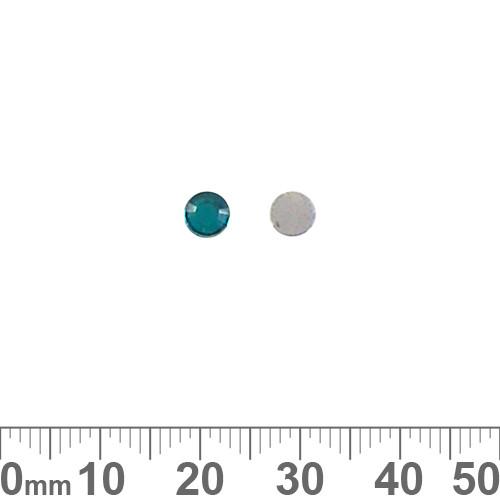 4.8mm Round Teal Plastic Diamantes