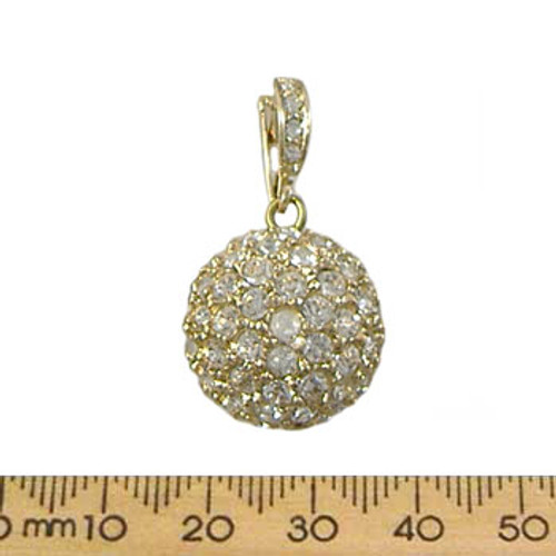 22mm Diamante Enhancer Metal Pendant