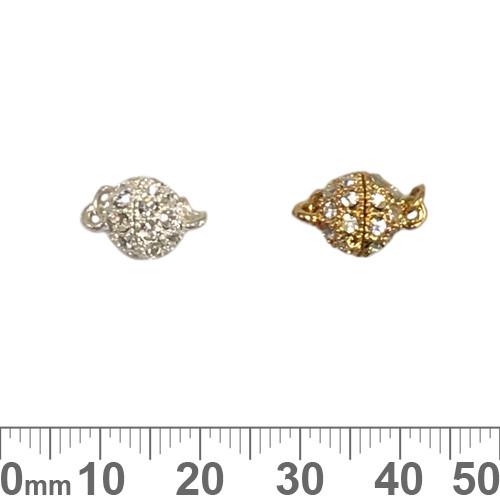 Fancy Round Diamante Magnetic Clasp