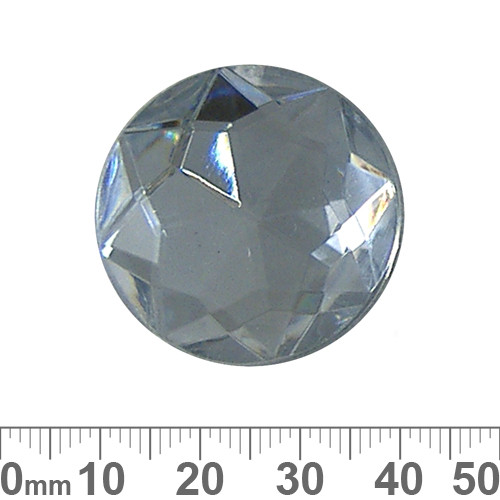 30mm Round Faceted Plastic Diamante