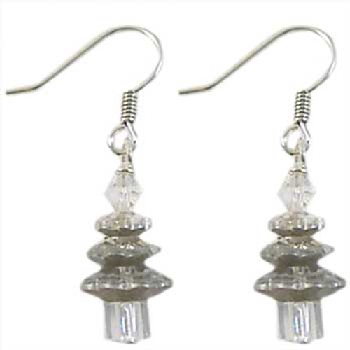 Christmas Tree A-Grade Crystal Earrings Kit - Clear