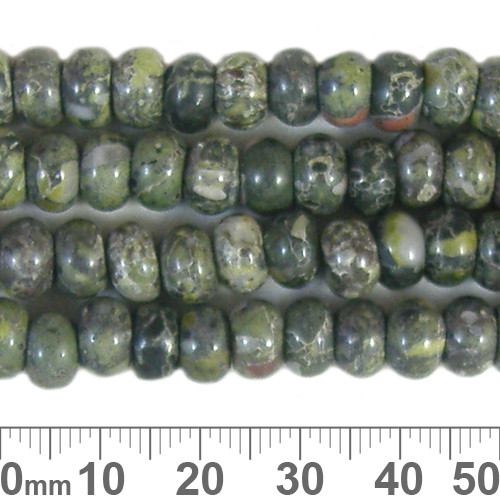 Kambaba Jasper 5mm Rondelle Beads