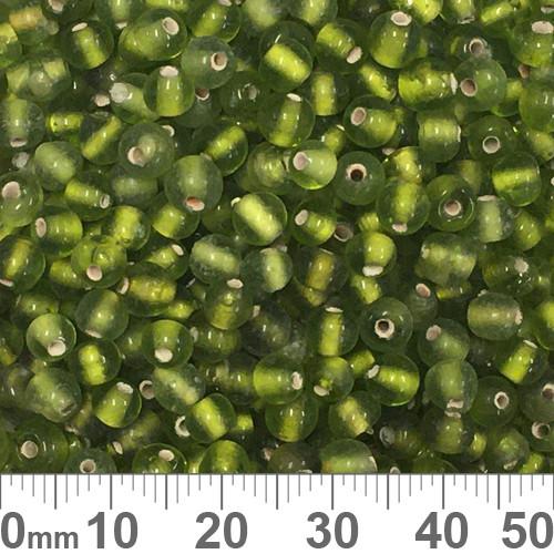 Green 4mm Round Glass Beads