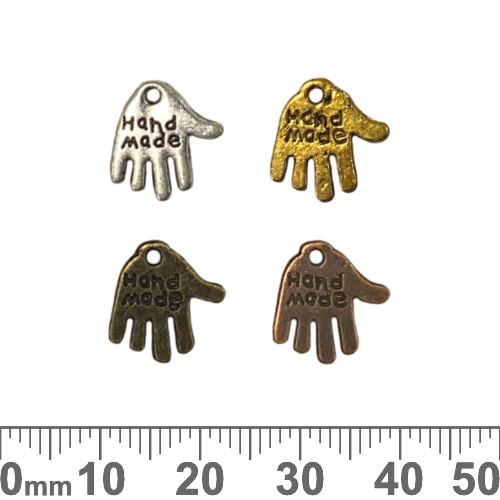 Handmade Hand Metal Charms