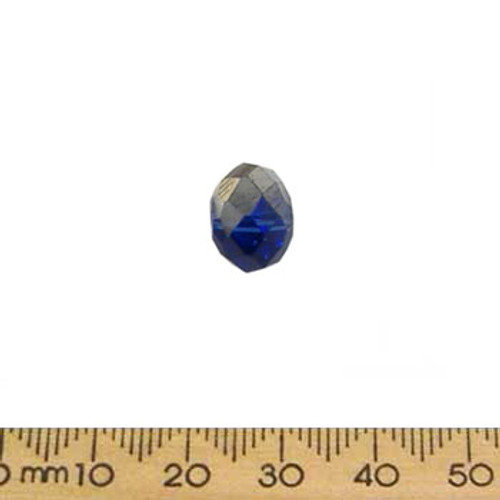 Blue/Silver 12mm Rondelle Glass Crystal Bead