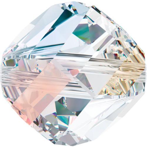 8mm Crystal AB Swarovski Helix Beads