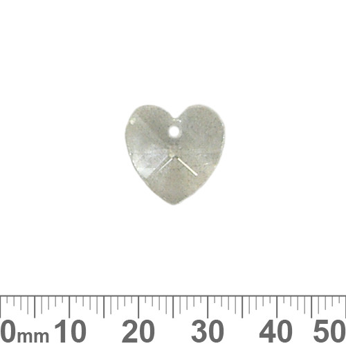 Small 14mm Glass Crystal Heart