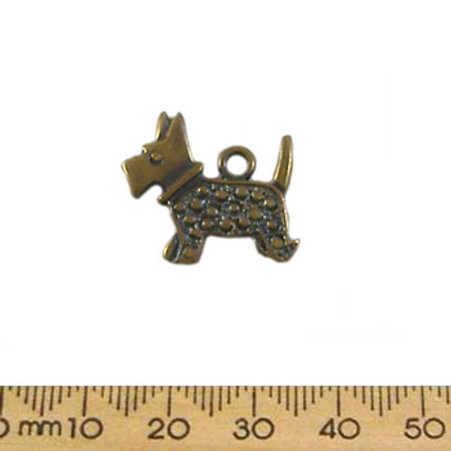 BULK 21mm Bronze Scotty Dog Metal Charms