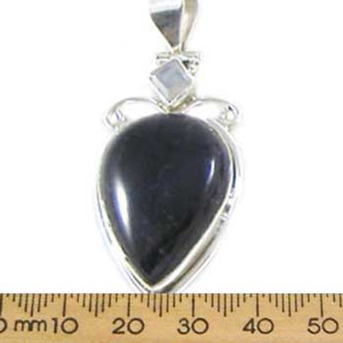 Teardrop with Moonstone Amethyst Pendant