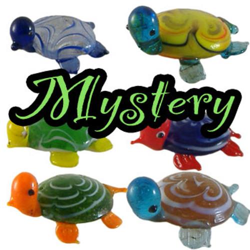 Small Glass Turtle Ornament - MYSTERY colour