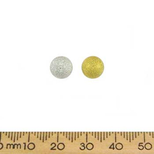 BULK 8mm Stardust Metal Beads