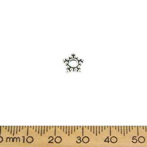 Large Sterling Silver Daisy Spacer (Large Hole)