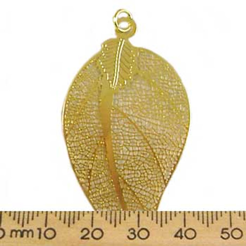 Gold Leaf Base Metal Pendant