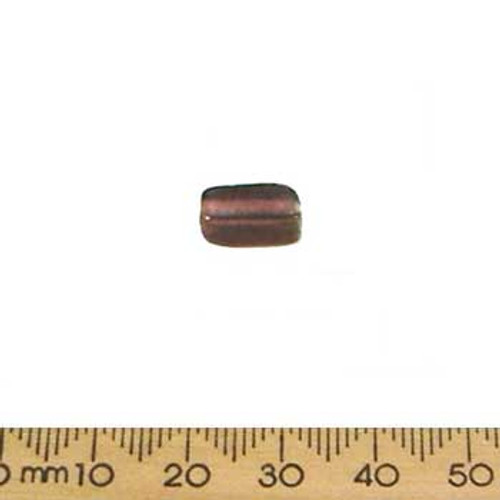 Medium Rose Medium Rectangular Tube Glass Beads