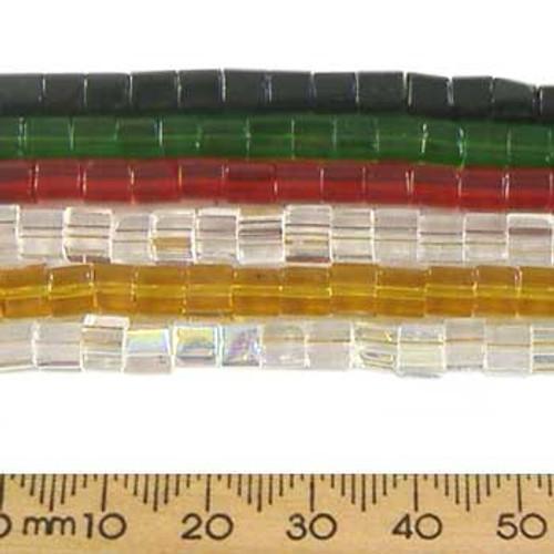 BULK 4mm Cube Glass Beads (10pcs)