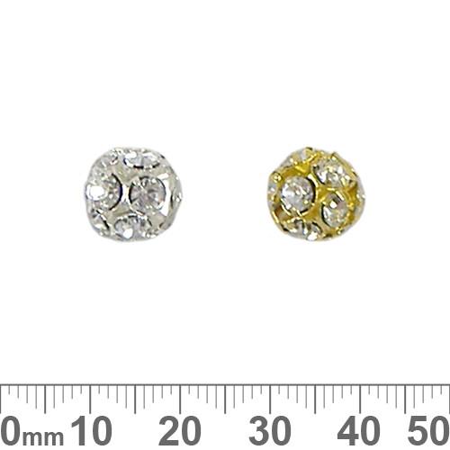 10mm Sparkly Diamante Metal Ball